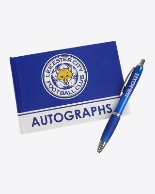 Leicester City Autograph Book & Pen
