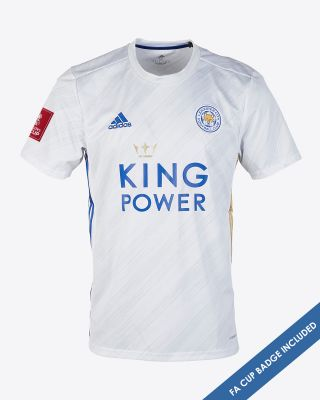 Leicester City White Away Shirt 2020/21 - FA CUP
