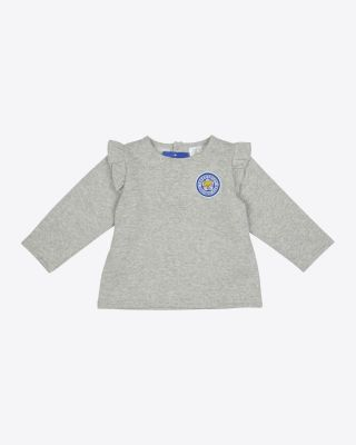 Leicester City Baby/Toddler Grey Frill Sweat