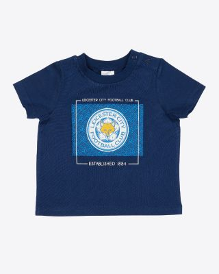 Leicester City Baby/Toddler Navy Print T-Shirt