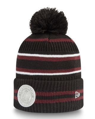 New Era Maroon Cuff Bobble Knit