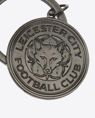 Leicester City Black Crest Keyring