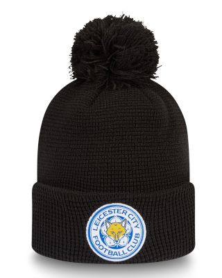 New Era - Womens Crest Cuff  Black Bobble Hat