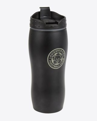 Leicester City Black Travel Mug