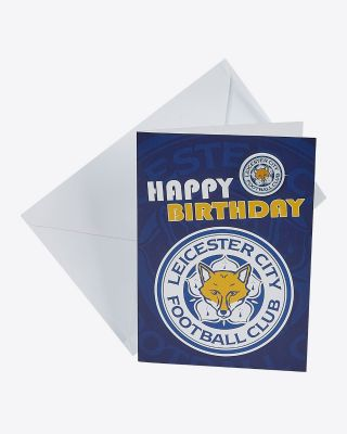 Leicester City Greetings Card - Assorted Designs - HAPPY BIRTHDAY/BADGE