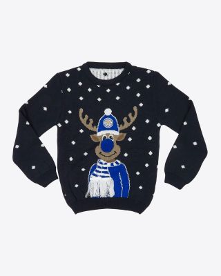Leicester City Kids Reindeer Christmas Jumper
