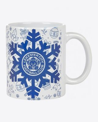 Leicester City Pearlescent Christmas Mug
