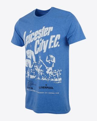 Leicester City Mens Blue Programme T-Shirt