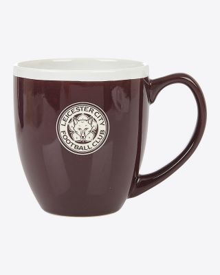 Leicester City Maroon Etched Crest Mug