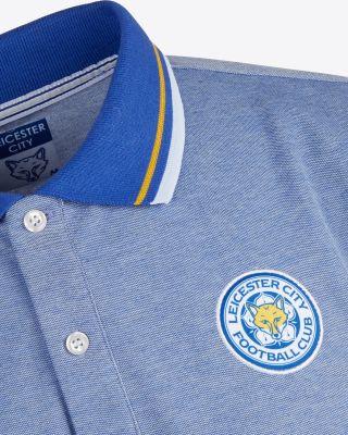 Leicester City Mens Blue Polo