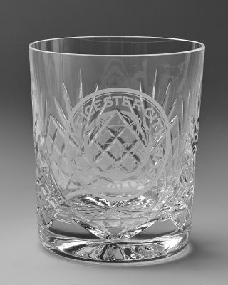 Leicester City Crystal Whiskey Glass