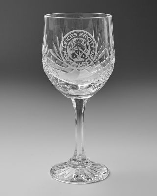 Leicester City Crystal Wine Glass