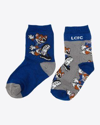 Leicester City Kids Filbert Twin Pack Socks