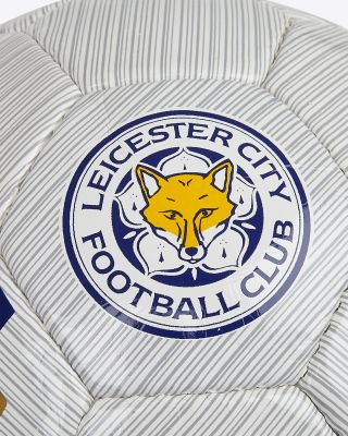 Leicester City White Away Kit Football