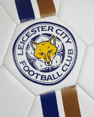 Leicester City White Football  - Size 1