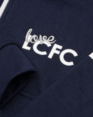 Leicester City Girls Mila Navy Zip Hoody