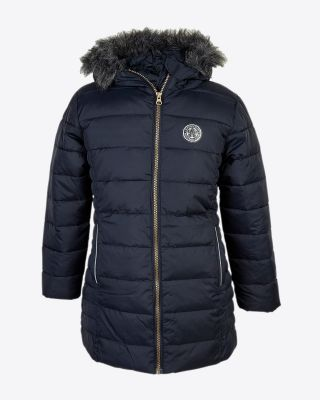 Leicester City Girls Navy Parka Jacket