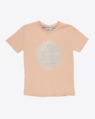 Leicester City Girls Pink Foil Crest T-Shirt
