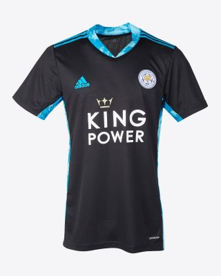 Leicester City King Power S/S Goalkeeper Shirt Black 2020/21