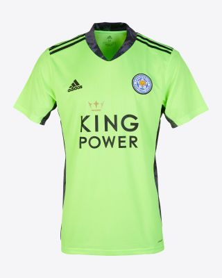 Leicester City King Power S/S Goalkeeper Shirt Green 2020/21