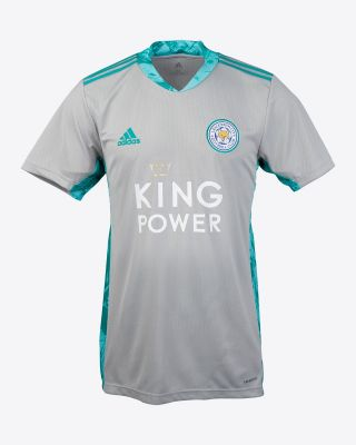 Leicester City King Power S/S Goalkeeper Shirt Grey 2020/21