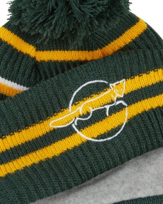 New Era - Green/Yellow Crest Cuff Bobble Hat