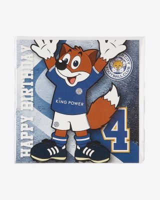 Leicester City Greetings Card - Assorted Designs - AGE 4