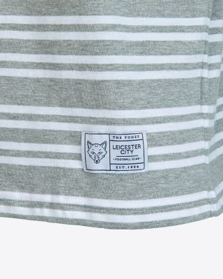 Leicester City Mens Grey/White Stripe T-Shirt