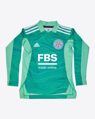 Kasper Schmeichel - Leicester City Goalkeeper Shirt Green 2021/22 - Kids