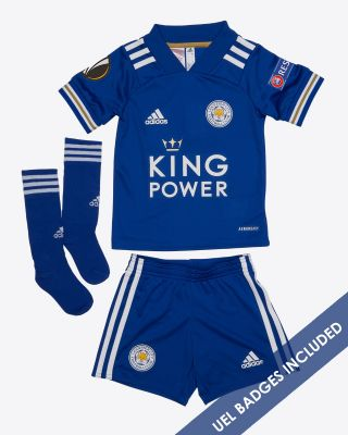 Leicester City King Power Home Shirt 2020/21 - Mini Kit UEL