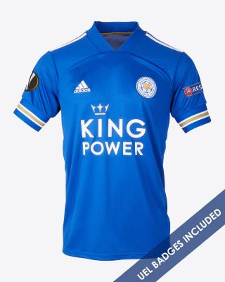 Jonny Evans - Leicester City King Power Home Shirt 2020/21 - Kids UEL