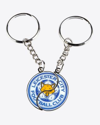 Leicester City Split Crest Keyring Set