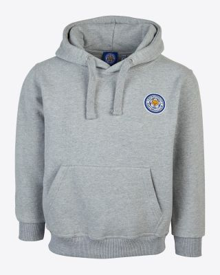 Leicester City Kids Grey Crest Hoody