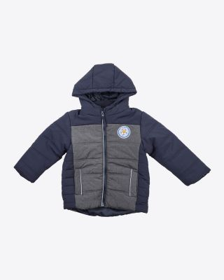 Leicester City Kids Navy/Grey Jacket