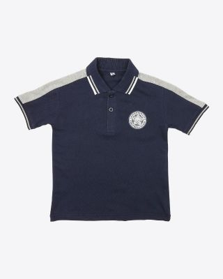 Leicester City Kids Eridanus Navy Rubber Crest Polo