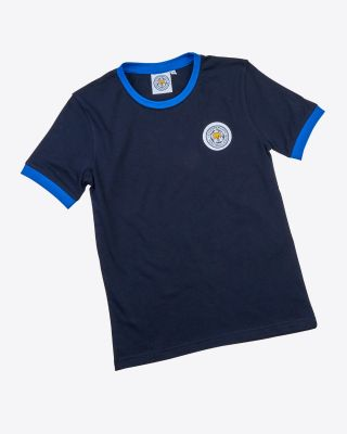 Leicester City Kids Navy Ringer T-Shirt