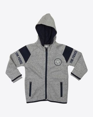 Leicester City Kids Millennium Grey Zip Hoody