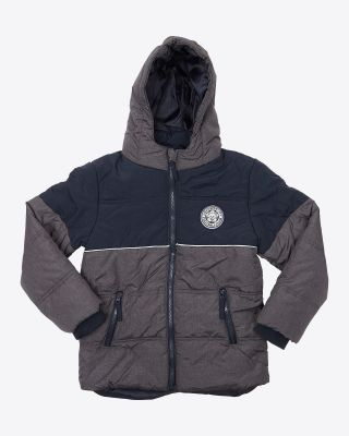 Leicester City Kids Volcano Grey/Navy Crest Jacket