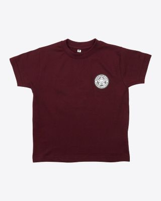 Leicester City Kids Twister Maroon Crest T-Shirt