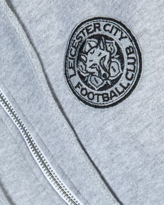 Leicester City Womens Grey Crest Hoody