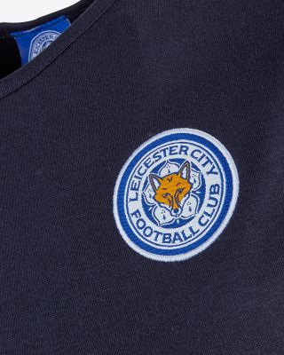 Leicester City Womens Navy Crest T-Shirt