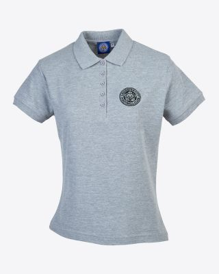Leicester City Womens Grey Crest Polo
