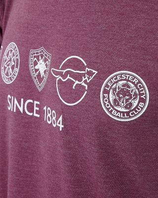 Leicester City Womens Maroon Retro Crest T-Shirt