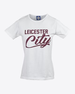 Leicester City Womens  White/Maroon Alexadrite T-Shirt