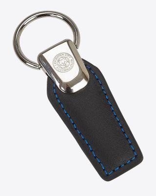 Leicester City Leather Crest Keyring