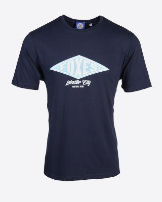 Leicester City Geneva Print T-Shirt - Navy