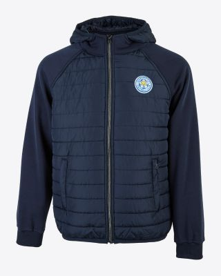 Leicester City Mens Navy Padded Jacket