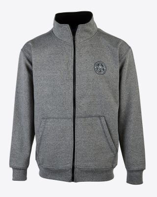 Leicester City Mens Grey Zip Sweat