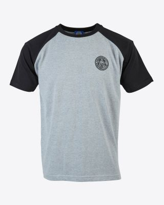Leicester City Mens Grey/Black T-Shirt