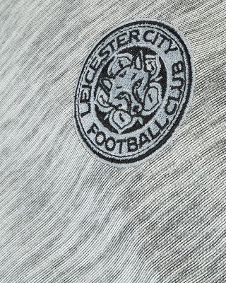 Leicester City Mens Grey Marl Crest T-Shirt